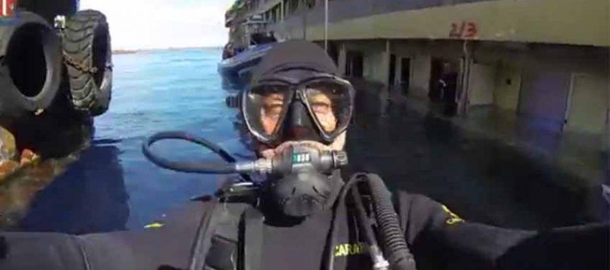 Podvodne snimke iz potopljene Costa Concordije