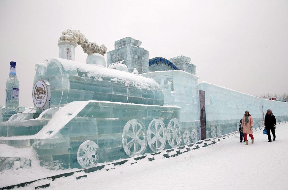 ledene skulpure