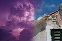 Munja pogodila vrh krova u Primoštenu