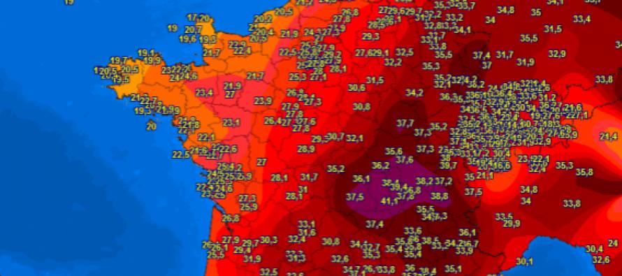 EUROPA GORI : Novi apsolutni temperaturni rekordi u Europi: Zaragoza 44.5°C, Geneva 39.7°C