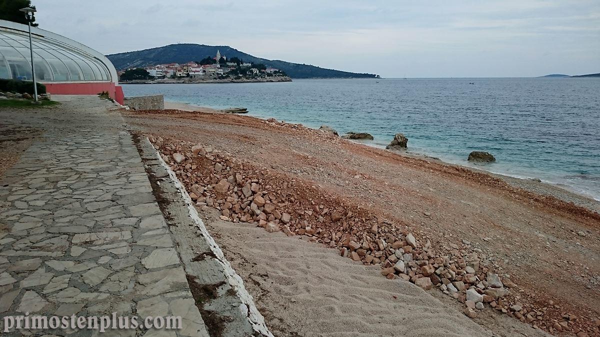 radovi na plaži primošten