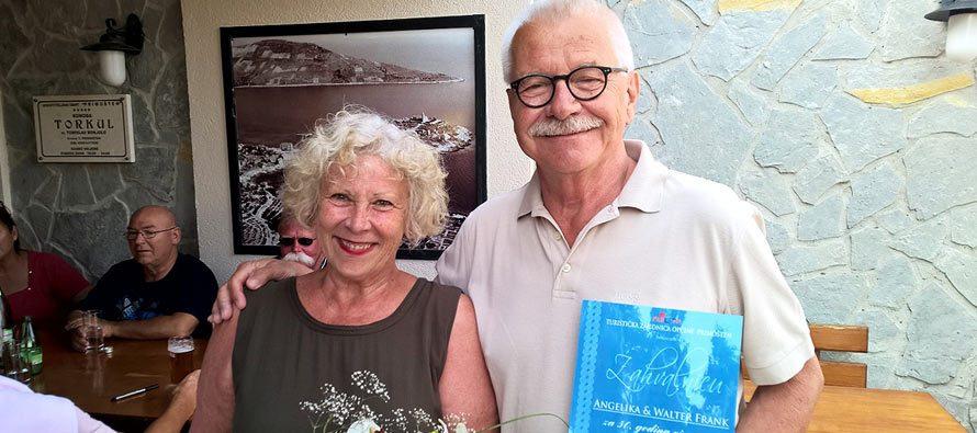 Hvala Angeliki i Walteru na 50 godini vjernosti Primoštenu !