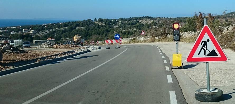 Jadranska magistrala u Primoštenu  zbog radova  zatvorena za sav promet