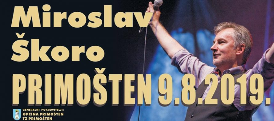 Koncert Miroslava Škore na trgu don Ive Šarića 9.8.2019.