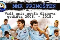 MNK Primošten vrši upis novih članova (godišta 2006 – 2015.)